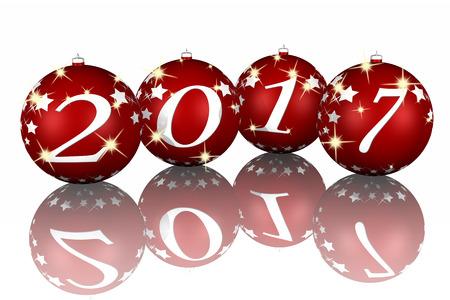 successo: Capodanno, decorazione natale con 2017