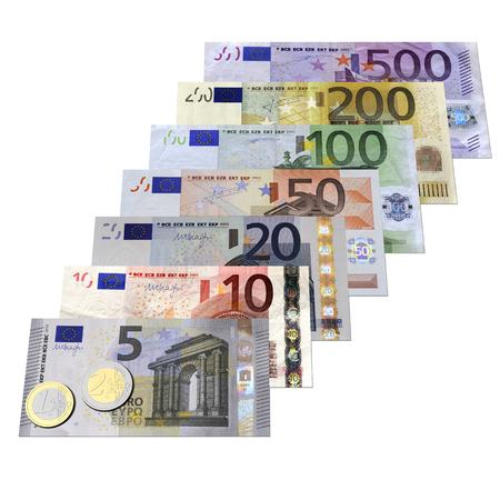 successo: Euro isolati su sfondo bianco