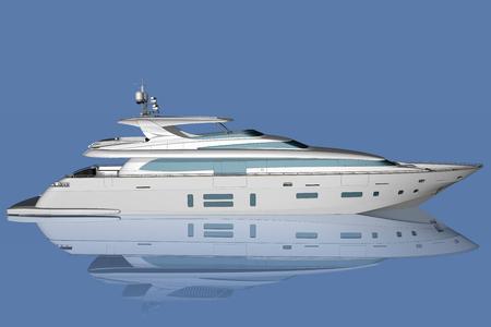 successo: yacht in mezzo al mare con sullo sfondo il cielo.