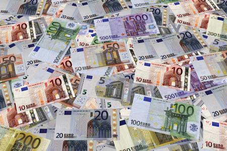 successo: Sfondo. Banconote Euro
