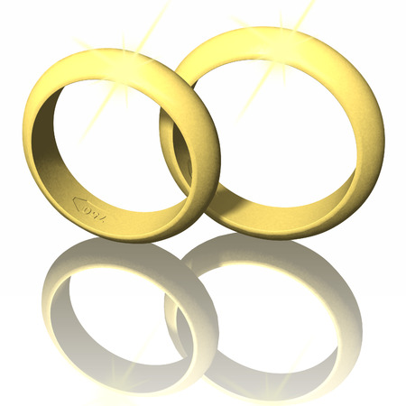 Martyr's rings isolated on white background. Stock Photo