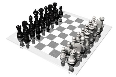 チェス。白と黒の部分とのチェス盤です。