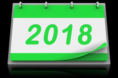 Desk Calendar Calendar 2018 Фото со стока