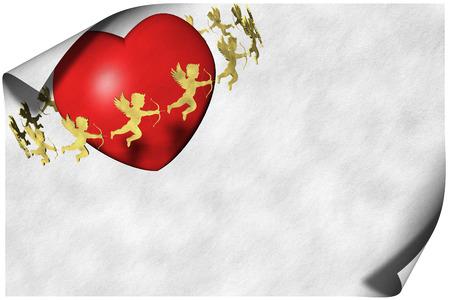Cartolina d'auguri di cuori. Amore e San Valentino. Archivio Fotografico - 94492210