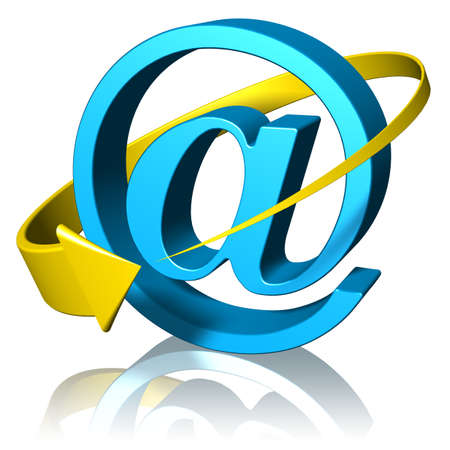 Email and e-mail symbol for communications and contacts.