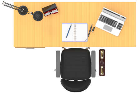 Office interior, with desk and computer. space to insert text.