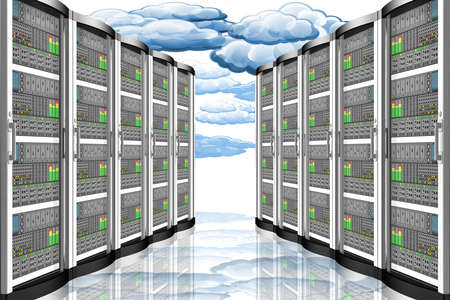 Computer data server. Connection and storage of computer data, applications.