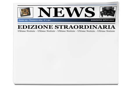 Blank white newspaper for text Breaking news Zdjęcie Seryjne