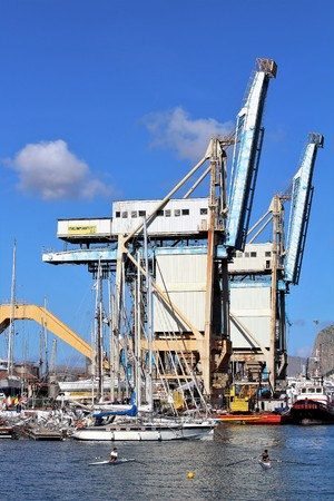 industrial and commercial port of Palermo 10.16.2016 Banque d'images - 124999160