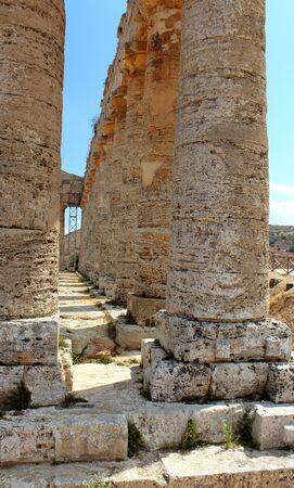 Evocative imagine of Classic Doric Greek Temple at Segesta, Sicily