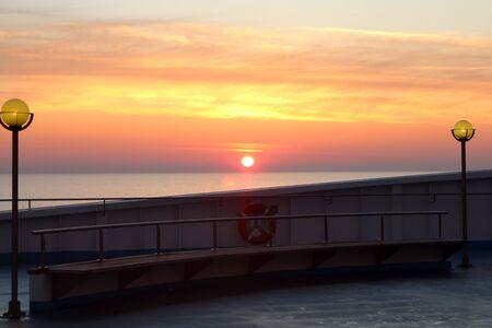evocative image of sunrise over the sea Archivio Fotografico - 127175575
