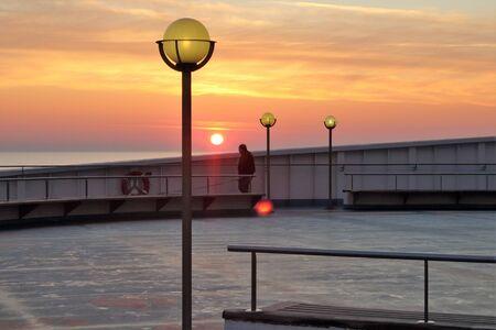 evocative image of sunrise over the sea Archivio Fotografico - 127175576