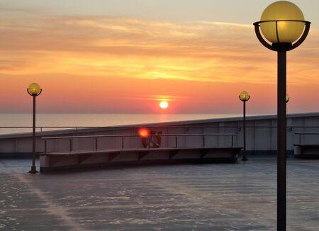 evocative image of sunrise over the sea Archivio Fotografico - 127175577