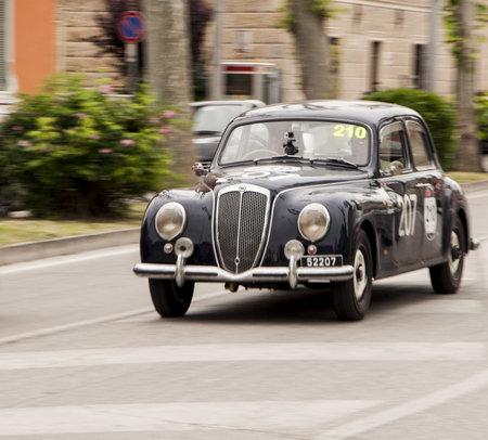 reenactment re enactment: Lancia Aurelia B21 berlina 1951
