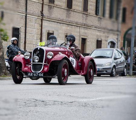 reenactment re enactment: FIAT 508 Balilla Sport 1933 Editorial