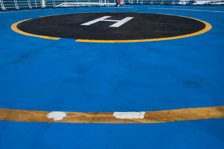 helicopter pad: helicopter landing pad on the ferry