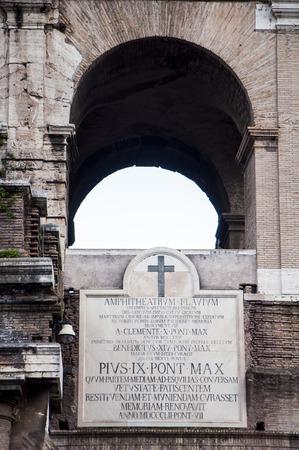 particolare: particolare Colosseo a Roma Italia Archivio Fotografico