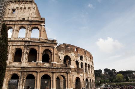 in particular: particular coliseum in Rome Italy