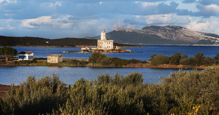 overview of the lighthouse of olbia