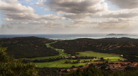 tolerate: overview of the golf club in Sardinia Stock Photo
