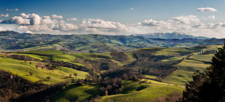 LANDSCAPE OF MONTE NERONE MARCHES AND MONTE CATRIA