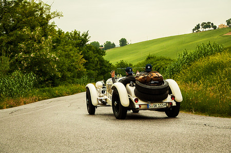 the old road: MercedesBenz 710 SSK 1928 Editorial