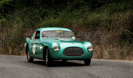 race car driver: CISITALIA SC 202 Berlinetta Pinin Farina in 1947