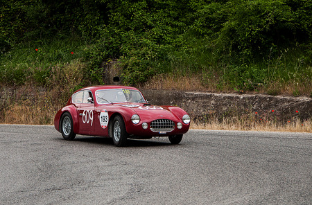 sportscar: old car ERMINI 1100 Berlinetta Headline 1950 one thousand miles in 2015