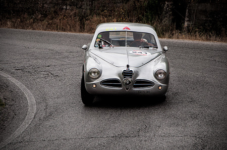miles: old car ALFA ROMEO 1900 C Race 1952 one thousand miles in 2015 Editorial