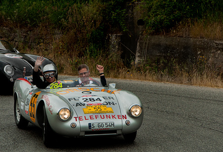 old car PORSCHE 550 Spyder RS 1500 1953 2015 one thousand miles 에디토리얼