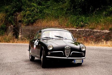 Mille Miglia 2015 Alfa Romeo Giulietta Sprint Bertone 1957 Stock