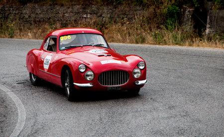 mille: history race car mille miglia 2015 FIAT 8V berlinetta 1954 Editorial