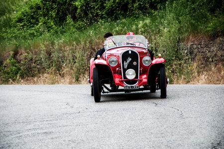 mille: history race car mille miglia 2015 FIAT 508 S Coppa d Oro Balilla Sport 1934