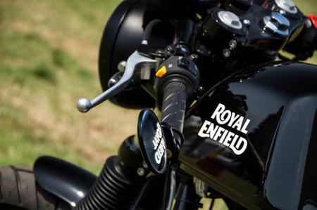 enfield: Royal Enfield motorbike Editorial