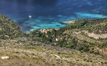 cove: sardinia italy landscape Figaroli island cove Moorish