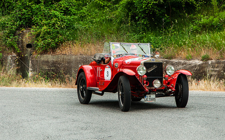 Thousand miles in 2015 italy history vintage car back Editorial