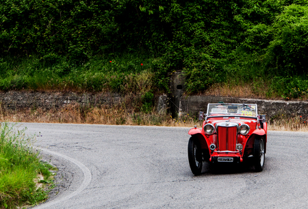 MG TB 1939 Thousand miles in 2015 italy history vintage car back