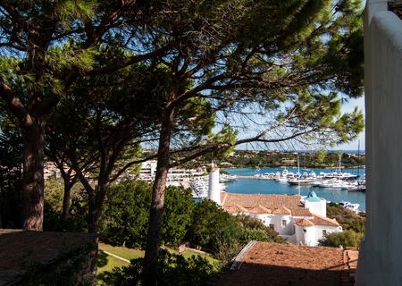 characteristic: Mediterranean style in Porto Cervo in Sardinia Stock Photo