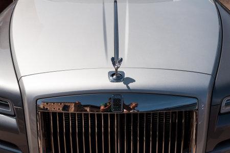 SARDINIA - ITALY - AUGUST 2017: Rolls Royce Phantom in deer harbor
