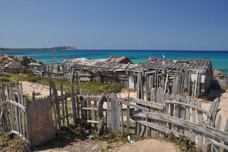 THE FAMOUS BEACH RENA MAIORE IN SARDINIA GALLURA WITH THE BLUE SEA