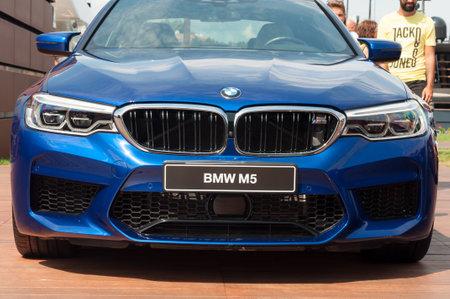 PORTO CERVO, ITALY - AUGUST 19: 2018 BMW M5