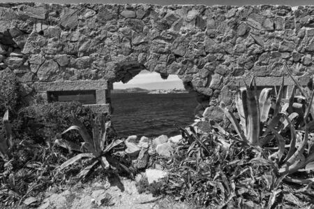 Fortezza Bastiani fortification Caprera Island Sardinia Italy Stok Fotoğraf