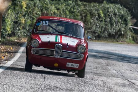 ALFA ROMEO GIULIETTA TI on an old racing car in rally