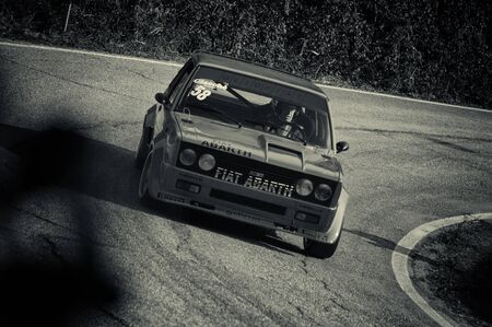 FIAT 131 ABARTH on an old racing car in rally