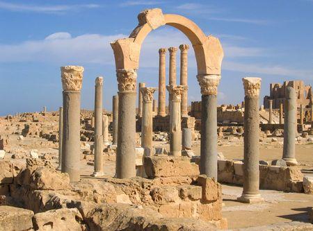 Libya, Sabratha, Ruins of the ancient Roman city photo
