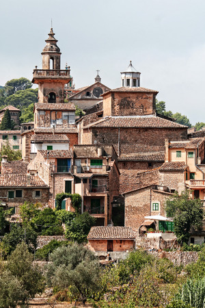 foreshortening: Nice foreshortening of Valdemossa, small and picturesque town located in the island of Majorca, Spain