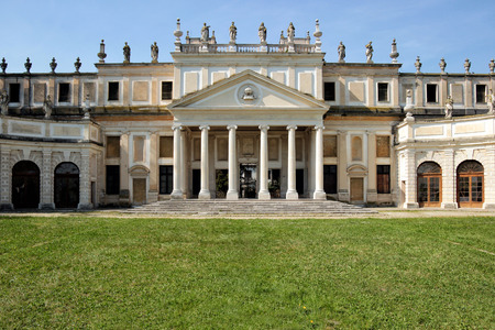 meadowland: Facade of the disused stables of Villa Pisani, italian museum  Editorial