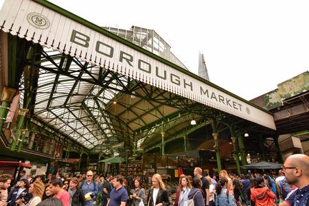 London, United Kingdom, June 2018. Borough Market is London's most important and well-stocked food market. A real food heaven near the London Bridge. We find both street food and specialties.