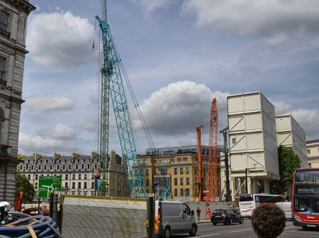 London, United Kingdom, June 2018. In the city center it is possible to meet large and modern building sites in progress for the construction of new structures. Redactioneel