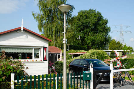 Netherlands, Zeeland region. August 2019. A nice campsite equipped with bungalows. Redactioneel
